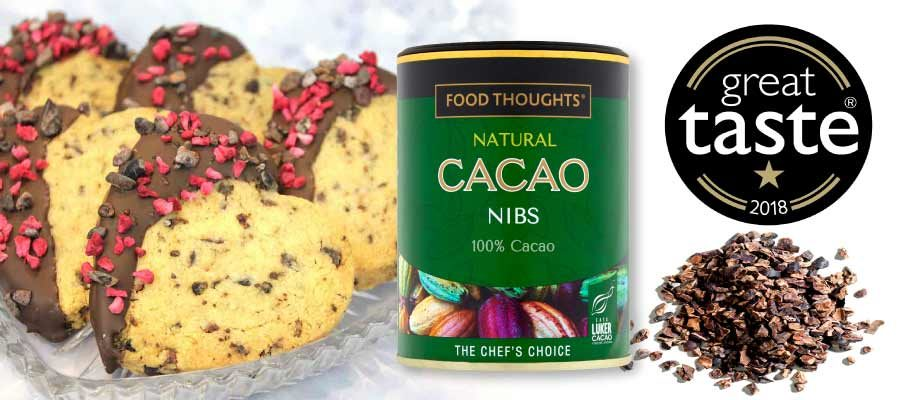 IT'S ALL ABOUT THE TASTE - NATURAL CACAO NIBS WIN GREAT TASTE AWARD
